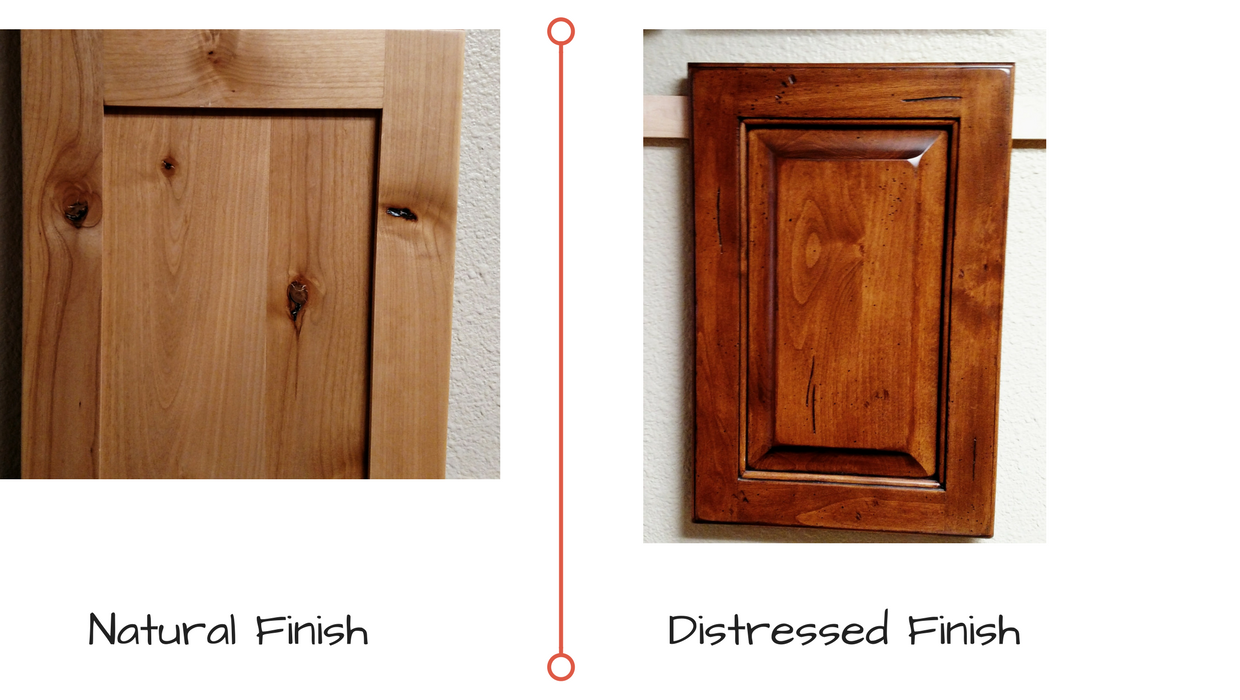 Natural vs Distressed cabinet door Finishes  sc 1 st  Osburn Cabinets & Kitchen cabinet basics: Picking your new kitchen cabinets u2022 Osburn ...